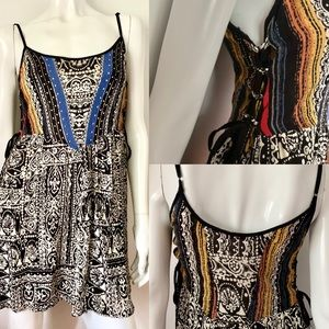 Bluenotes Multi-coloured Sun Dress with Side Ties